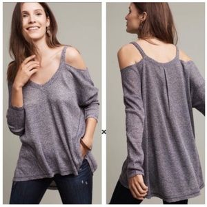 Anthropologie Deletta Millipa Open-Shoulder Top